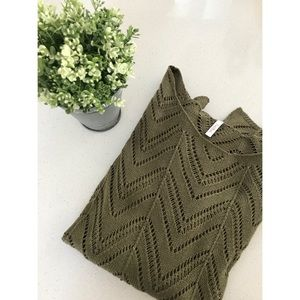 Olive green lightweight knit sweater